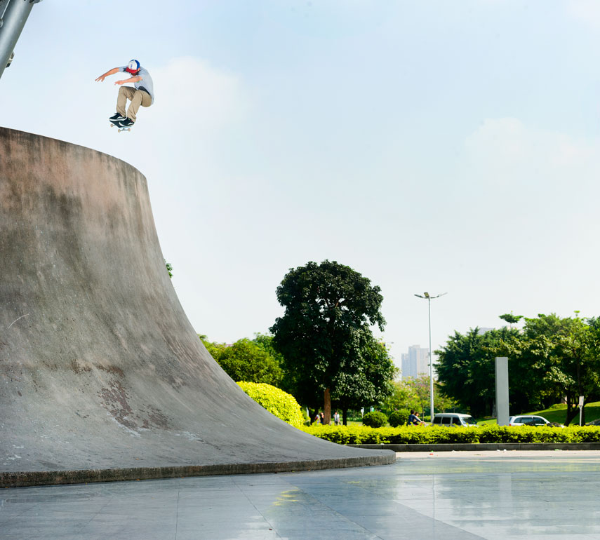 Raven Tershy, Ollie in. More China. By now you've seen this in Pretty Sweet. As awesome as it looks in the video, seeing this in person was insane.