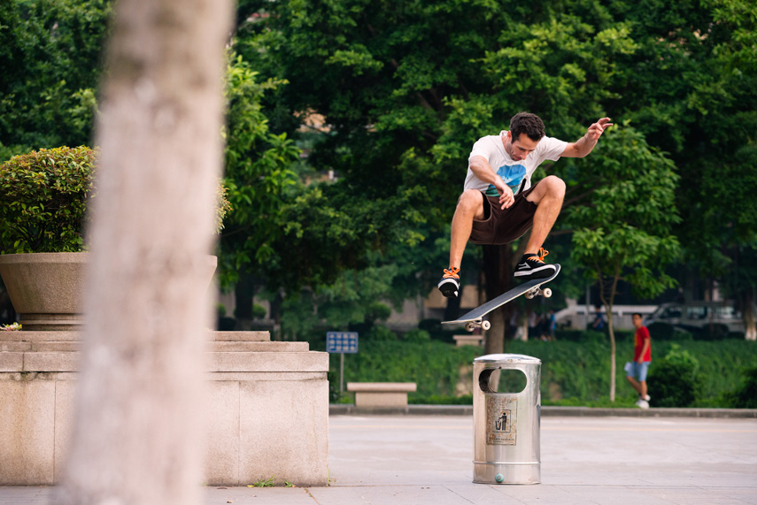 Some more of my favorites from the past year. Carroll frontside flips a can in China with classic form.