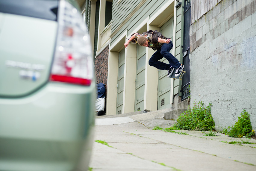 Cory would have landed this gap to wallride...