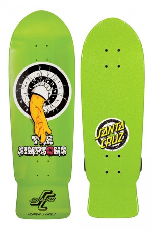 simpsons santa cruz cruzer skateboard homer simpson 2 300x450
