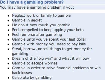 Help my husband has a gambling problem