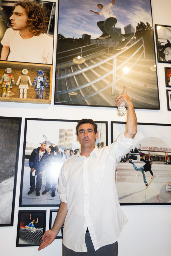 Lance Mountain in front of some awesome photos he took. Take more photos Lance!