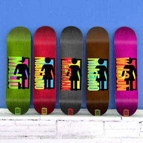 Spike It Deck Series by Girl Skateboards