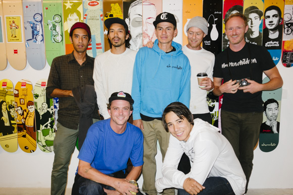 Our crew plus the man behind all the classic Chocolate graphics, Evan Hecox. (Malto was guest starring).